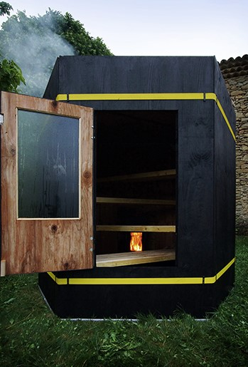 sauna mobile, construction